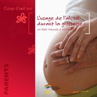 L'usage de l'alcool durant la grossesse - SAF