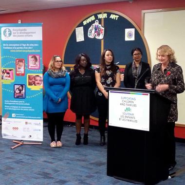 Familles Canada fera la promotion de l'Encyclopédie sur le développement des jeunes enfants