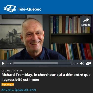 Richard Tremblay, le chercheur qui a démontré que l'agressivité est innée